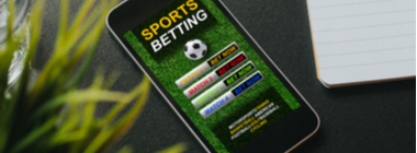 Sports Betting screen on a mobile phone screen